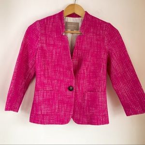 BANANA REPUBLIC Hot Pink Textured Blazer